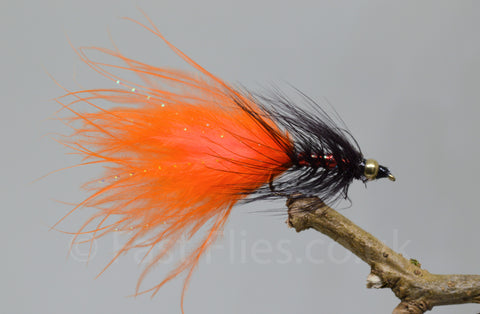 Gold Head Orange Dancer x 3 - Fast Flies top trout flies