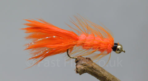 Gold Head Orange Woolly Bugger x 3 - Fast Flies top trout flies