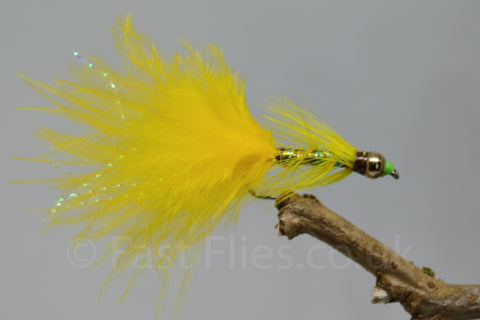 Gold Head Yellow Dancer Yellow Tail x 3 - Fast Flies top trout flies