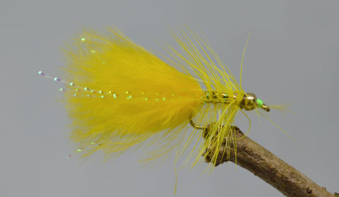 Gold Head Mini Yellow dancer (Barbless) - Fast Flies top trout flies