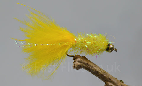 Gold Head Yellow Fritz Woolly Bugger x 3 - Fast Flies top trout flies