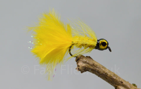 Lead Head Mini Yellow Dog Nobbler x 3 - Fast Flies top trout flies