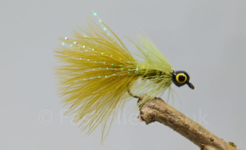 Lead Head Mini Olive Dog Nobbler x 3 - Fast Flies top trout flies