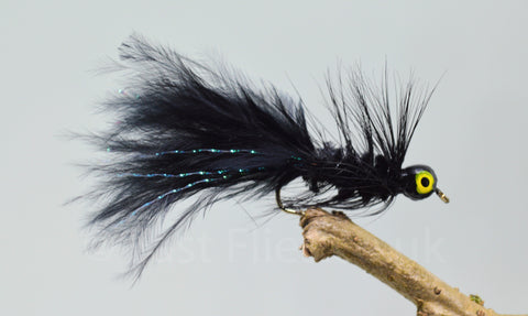 Lead Head Mini Black Dog Nobbler x 3 - Fast Flies top trout flies