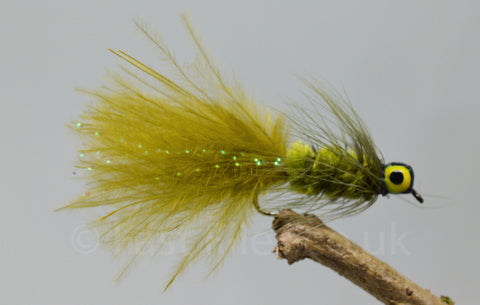 Lead Head Olive Dog Nobbler x 3 - Fast Flies top trout flies