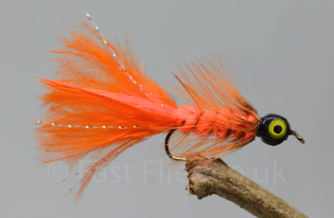 Lead Head Orange Dog Nobbler x 3 - Fast Flies top trout flies