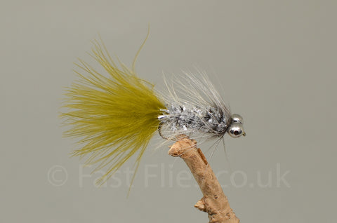 Lead Head White Fritz Dog Nobbler x 3 - Fast Flies top trout flies