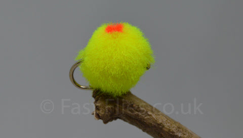 Chartruse Flame Dot Eggs x 3 - Fast Flies top trout flies