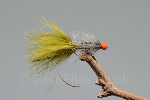 Pink & Yellow Flame Dot Eggs x 3 - Fast Flies top trout flies