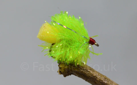 Chartreuse Fabs x 3 - Fast Flies top trout flies