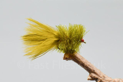 Olive Blobs x 3 - Fast Flies top trout flies