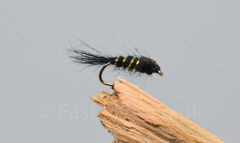 G.R.H.E. Black x 3 - Fast Flies top trout flies