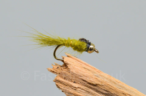 Gold Head G.R.H.E. Olive x 3 - Fast Flies top trout flies