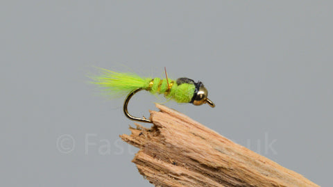 Gold Head G.R.H.E. Lime x 3 - Fast Flies top trout flies