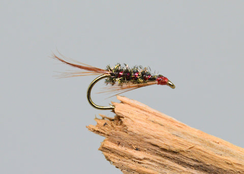 Red Holo Diawl Bach (Barbless) - Fast Flies top trout flies