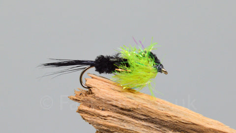 Black & Lime Fritz Montana x 3 - Fast Flies top trout flies