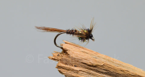 Black Fritz Throat Cruncher x 3 - Fast Flies top trout flies
