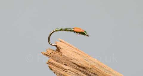 Olive Skinny Buzzers x 3 - Fast Flies top trout flies