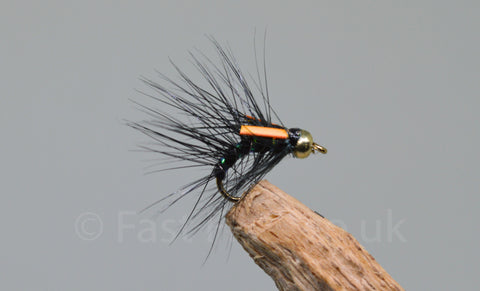 Gold Head Black x 3 - Fast Flies top trout flies