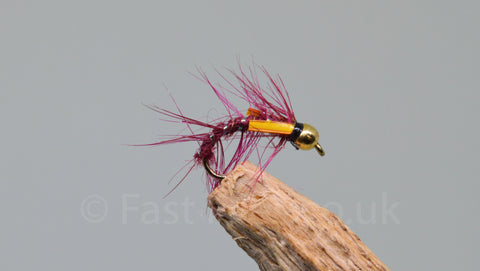 Gold Head Claret x 3 - Fast Flies top trout flies