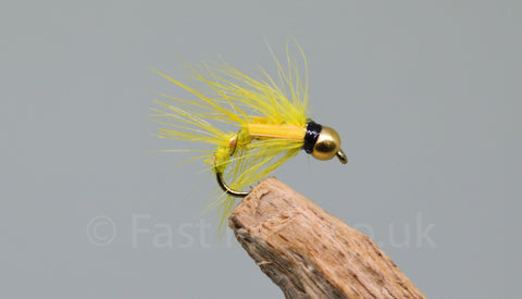 Gold Head Yellow Pearl x 3 - Fast Flies top trout flies