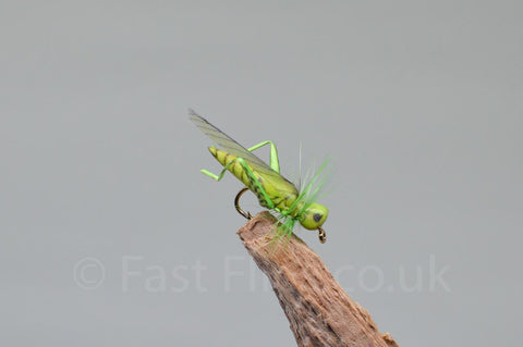 Flying Hopper Green - Fast Flies top trout flies