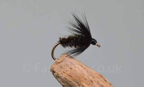 Black Peacock & Spider x 3 - Fast Flies top trout flies