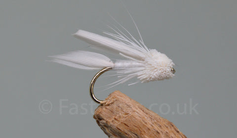 White Mini Muddlers x 3 - Fast Flies top trout flies