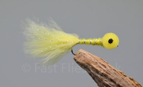 Yellow - Long Shank x 3 - Fast Flies top trout flies