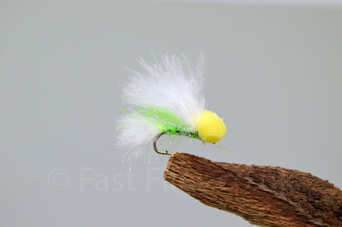 White & Green Flash - Micro x 3 - Fast Flies top trout flies