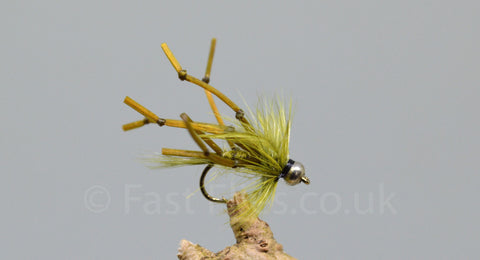 G.H. Olive Flexi Floss Daddy Longlegs x 3 - Fast Flies top trout flies