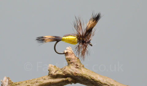 Yellow Humpy x 3 - Fast Flies top trout flies