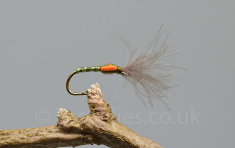CDC Olive Skinny Shuttle Cock Buzzers x 3 - Fast Flies top trout flies