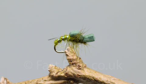 Olive Foam Suspender Buzzers x 3 - Fast Flies top trout flies