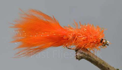 Gold Head Orange Fritz Woolly Bugger x 3 - Fast Flies top trout flies
