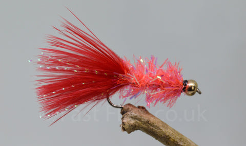 Gold Head Red Fritz Woolly Bugger x 3