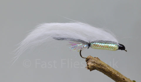 White Zonkers x 3 - Fast Flies top trout flies