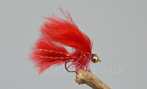 Gold Head Mini Fritz Blood Cat x 3 - Fast Flies top trout flies