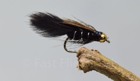Gold Head Mini Ace of Spades x 3 - Fast Flies top trout flies
