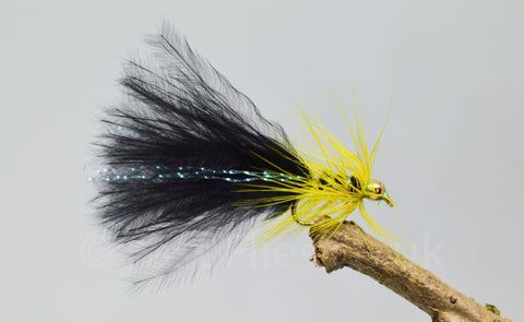 Gold Head Mini Black Dancer x 3 - Fast Flies top trout flies
