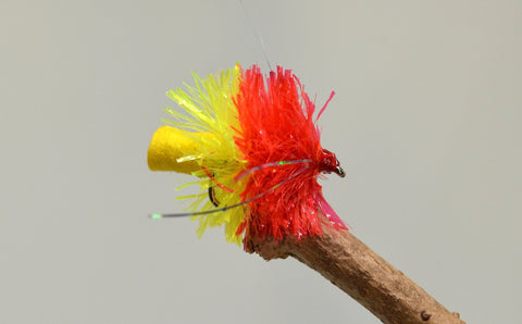 Yellow & Red Fabs x 3 - Fast Flies top trout flies