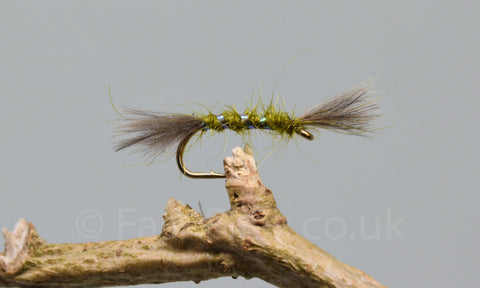 CDC Olive Shipmans Buzzers x 3 - Fast Flies top trout flies