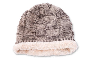 Knit Hat with Fleece Lining