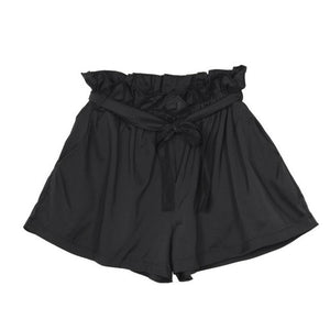 High Waist Loose Shorts With Bow Tie Belt