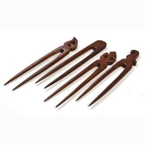 Set of Four Wooden Hair Pins Handmade and Fair Trade