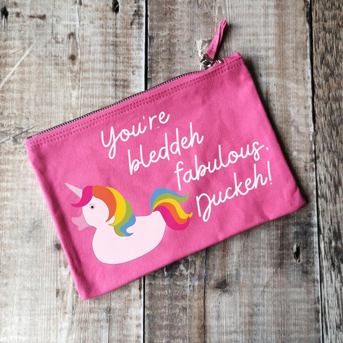 You're bleddeh fabulous, duckeh! Canvas Make-up Bag