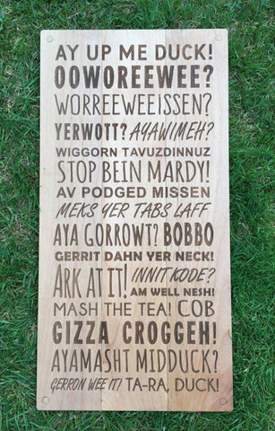 ENGRAVED WOODEN PHRASES PLAQUES