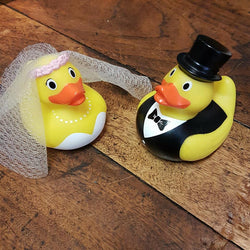 Bride and Groom Rubber Duck Set