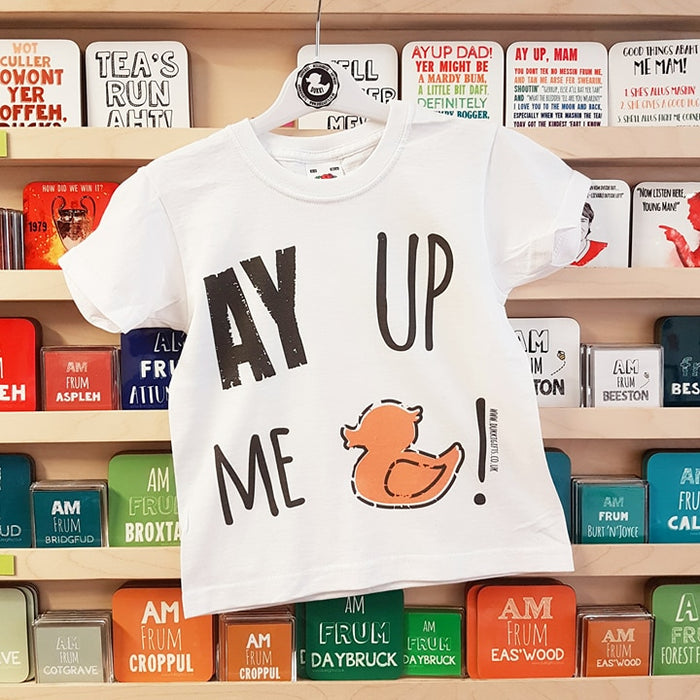 AY UP ME DUCK ( yellow duck) Children's T-shirt