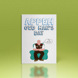 APPEH OWD MAN'S DAY (ta duck) Fathers Day Card